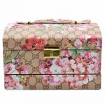Jewelry Organizer Box with Mirror Pullout Drawer, 11 Section – Floral Print Light
