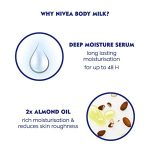 Nivea Nourishing Lotion Body Milk With Deep Moisture Serum And 2x Almond Oil for Very Dry Skin, 400ml