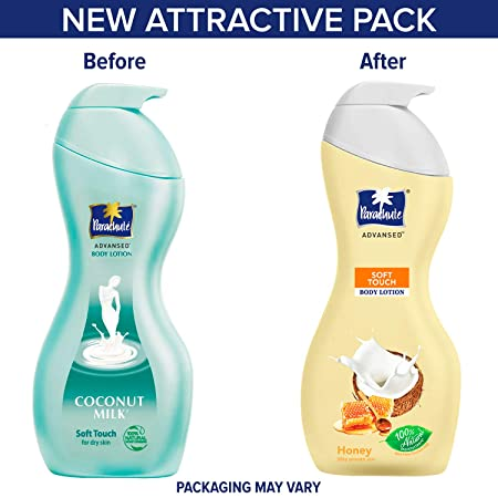 Parachute Advansed Body Lotion Soft Touch, With Honey Silky Smooth Skin,100% Natural Moisturizes with pure coconut milk 400 ml