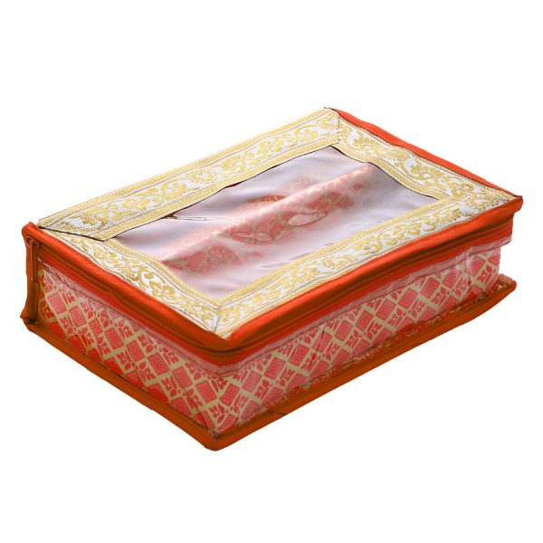 Package Contents:2 Pieces Two Rod Bangle Box.Material: Wooden, Color: Orange. Size: 26 cm x 18 cm x 8 cm .Kuber Industries Bangle box is made of good quality wooden and paperboard material so, this is very durable, long-lasting and very useful..This has an attractive and elegant look and has brocade design which increases the beauty of this bangle box..This is used to organize your bangles systematically and protect them from breakage so, keep delicate your bangles safely. This is enough to keep your bangles and all needs..