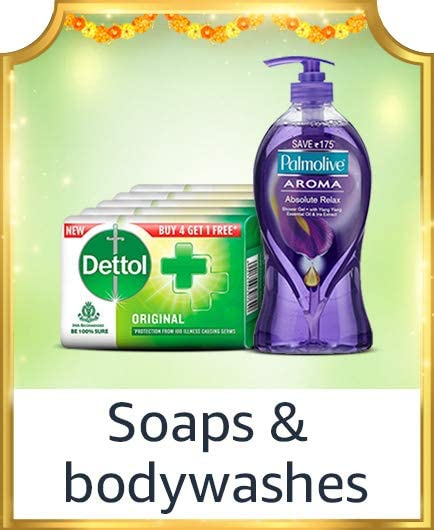 Soaps and bodywashes