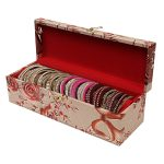 Wooden One Roll Bangle Storage Box with Lock System