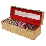 Wooden One Roll Bangle Storage Box (Gold)